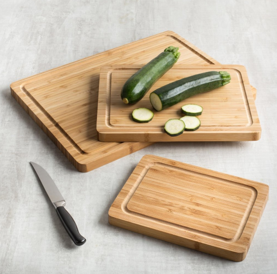 3 sizes wooden cutting boards