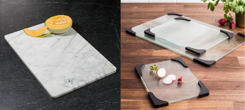 food is placed on cutting board