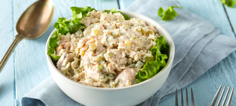yummy chicken salad in a bowl