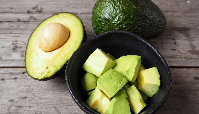 fresh avocados in a bowl